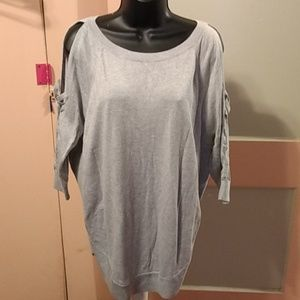 Express Open Shoulder Sweater NWT